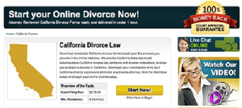 Alabama & California Divorce Papers