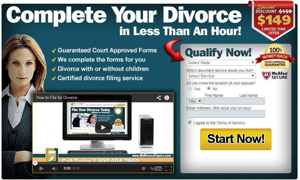 Save $10 on your Divorce by MyDivorcePapers.com